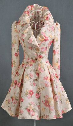 Floral print trench coat. I absolutely hate the print but I love the shape