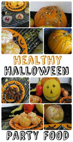 Healthy Halloween party food ideas - Carving spooky fruit for a display