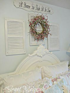 Decorated with repurposed items