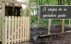 DIY - Gardening: How to Create a Cost-Friendly Gate in 5 Easy Steps! Garden Gates, Outdoor, Diy Gates And Fences, Diy Gardens Gates, Vegetables Gardens, Improvements Ideas, Easy Step, Buildings Things, Backyards