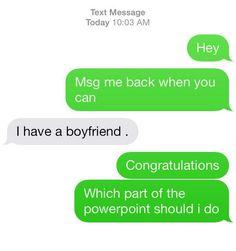 ha awkward..