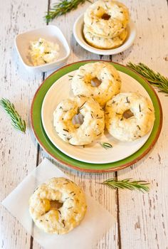 Baked Savory Cream Cheese & Herb Donuts