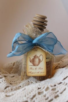 Tea Party Favor - Tea & VT Honey-Wedding-Bridal Shower-Baby Shower-Belle Savon Vermont on Etsy, $5.00