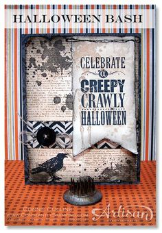Stampin' Up! Halloween Card by COnnie C at Constantly Stamping