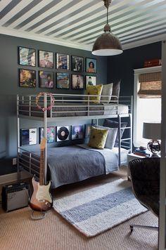 Industrial tween room |  Farrow & Ball - Down Pipe | Sally Wheat Interiors