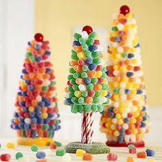 DIY:  Sugary Gum Drop Trees