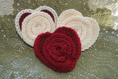 Free Ravelry: Flower in a Heart pattern by Lorene Haythorn Eppolite- Cre8tion Crochet