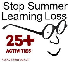 summer list of simple educational activities for kids.