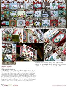 PaperHaus Magazine Winter Issue 2  Advent calendar - Could use matchboxes