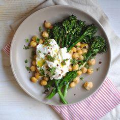 Crispy Broccolini, Chickpea and Ricotta Salad