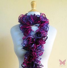 Love this scarf design - WILDBERRY PLUM Ruffled Lace Scarf flamenco by OriginalDesignsByAR, $24.95