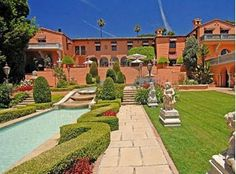 William Randolph Hearst, this 6.5-acre mega-mansion in Beverly Hills was built in 1926 and was featured in the film The Godfather. The compound comprises six buildings that have a total of 29 bedrooms. There are three swimming pools and a movie theater. 165,000,000.00