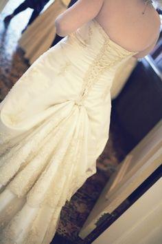 Wedding dress bustle idea