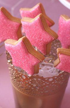 star cookies on sticks// dora likes stars right?:)