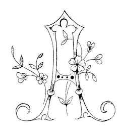 embroidery patterns, calligraphie alphabet, embroidery letter patterns, monogram, doodle font