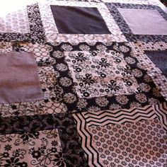 My black and white quilt for Katie