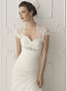 Short Sleeve Lace Wedding Jacket / Special Occasion Wrap (013004983)