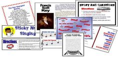 3rd or 4th grade star spangled banner stations printables!