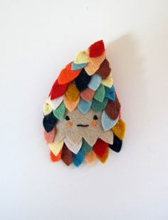 Feathered Brooch by catrabbitplush on Etsy, $38.00