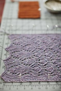 I love lace knitting.