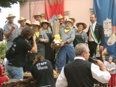 Resana, Italy Polenta Fest competition winning team in September 2010