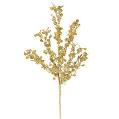 Christmas Tree Floral-Gold Sparkle Twig Pick- Gold and Red Theme-Florals add color and texture to your holiday decorating. Follow #ShowMeDecorating's #ChristmasTree #Recipe