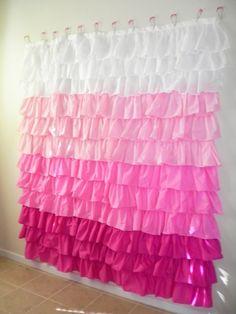 DIY Ruffle Shower Curtain