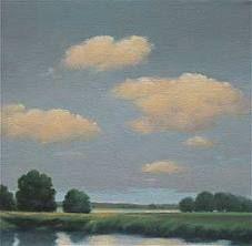 "Gayle Bard  Near Brainerd  2009  Oil on Canvas, Board  10"" x 10"""