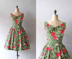 Reminds me of my Auntie Joyce when she was going to Dances and I was a child wedding dressses, floral prints, cloth, les art, 1950s dresses, vintage roses, print 50s, vintag rose, floral dresses