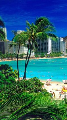 Waikiki, Beach, Oahu, Hawaii my favorite place on the planet