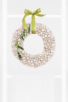 wood ball wreath