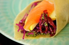 Happy Wrap #Recipe: Coconut Meat Wraps with Smoked Salmon