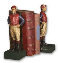 /  Jockey Bookends Bookends - Bookends - By Oklahoma Castings at Horse and Hound Gallery
