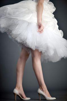 white tulle skirt!