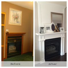DIY mantle. before & after. all for $50