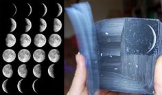 Moon phase flip book