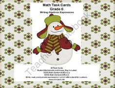 Writing Algebraic Expressions-Math Task Cards-Grade 6-CCSS from Mrs. Mc's Shop on TeachersNotebook.com -  (13 pages)  - If you need materials for teaching Algebra, this is for you. The collection includes 40 task cards, answer sheets, and an answer key.