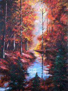 "Christopher Lyter - ""Little Buffalo Creek"", 40"" x 30"" oil on canvas"