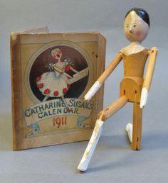Antique Late 19th Century Wooden Grodnertal Peg Doll Kathleen Ainslie Book | eBay