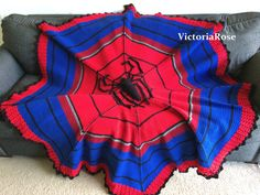 Crochet Spiderman Blanket Pattern.. $6 for download. spiderman blanket, blanket patterns