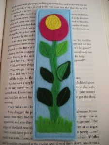 Felt bookmark at PeachyGreen