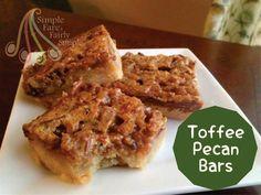 Simple Fare, Fairly Simple: Toffee Pecan Bars