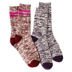 Merona® Women's 2-Pack Crew Boot Socks - Assorted Colors