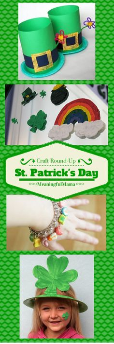 St. Patrick's Day Craft Ideas - A Round-up by Meaningful Mama