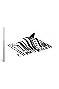 Banksy Barcode Shark - cool!!