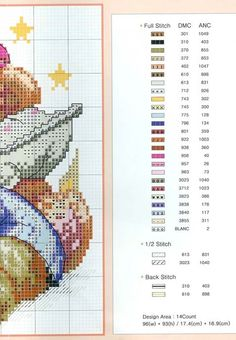 Nappy Bears cross stitch pattern #2