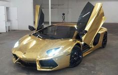 Check out the first gold-wrapped #Lamborghini Aventador called the Auric Goldfinger edition.