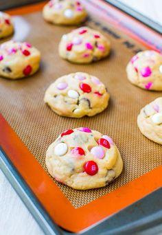 Soft M&M Chocolate Chip Cookies