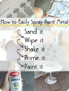 For the dining set - Chrome Chairs go Gold & A Game Table + How to Spray Paint Metal