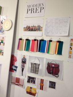 At Paperless Post, the product is virtual but the pinboards are real! Here is an idea board for a not-yet-released assortment of stationery that will celebrate Muffy and Biff. Click through for the WSJ's article on how Paperless Post makes the magic.